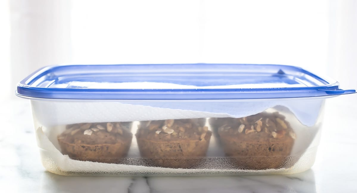 How to store muffins so that they stay fresh and don't become soggy. @wellplated