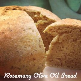 A loaf of rosemary olive oil bread