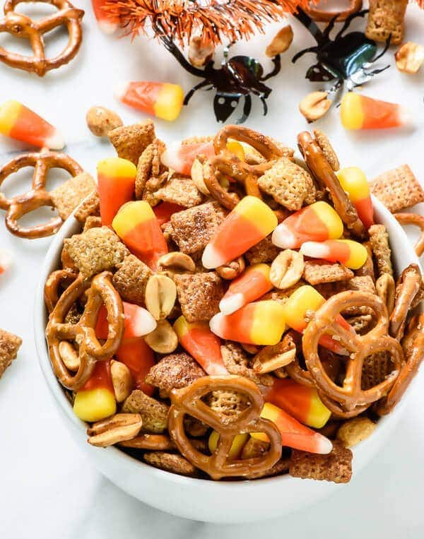 Halloween Chex Mix With Candy Corn And Maple Peanuts