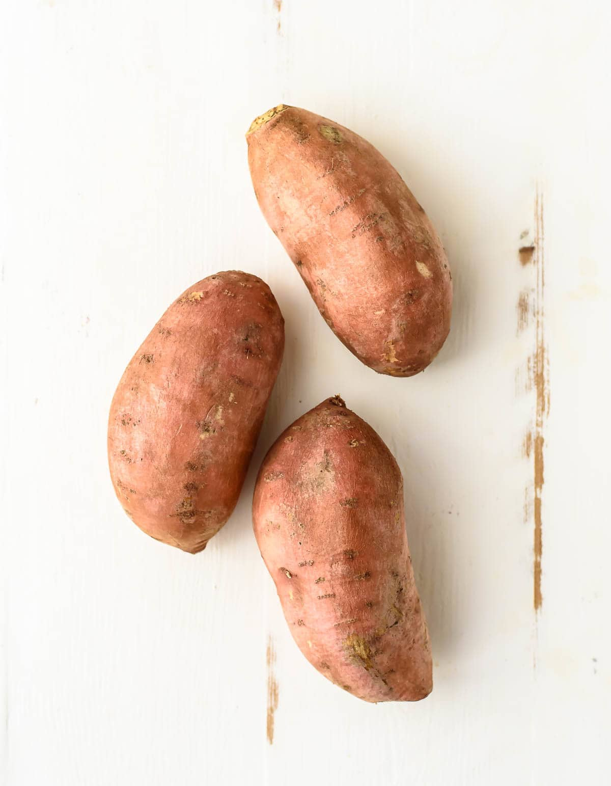 3 whole, unpeeled sweet potatoes