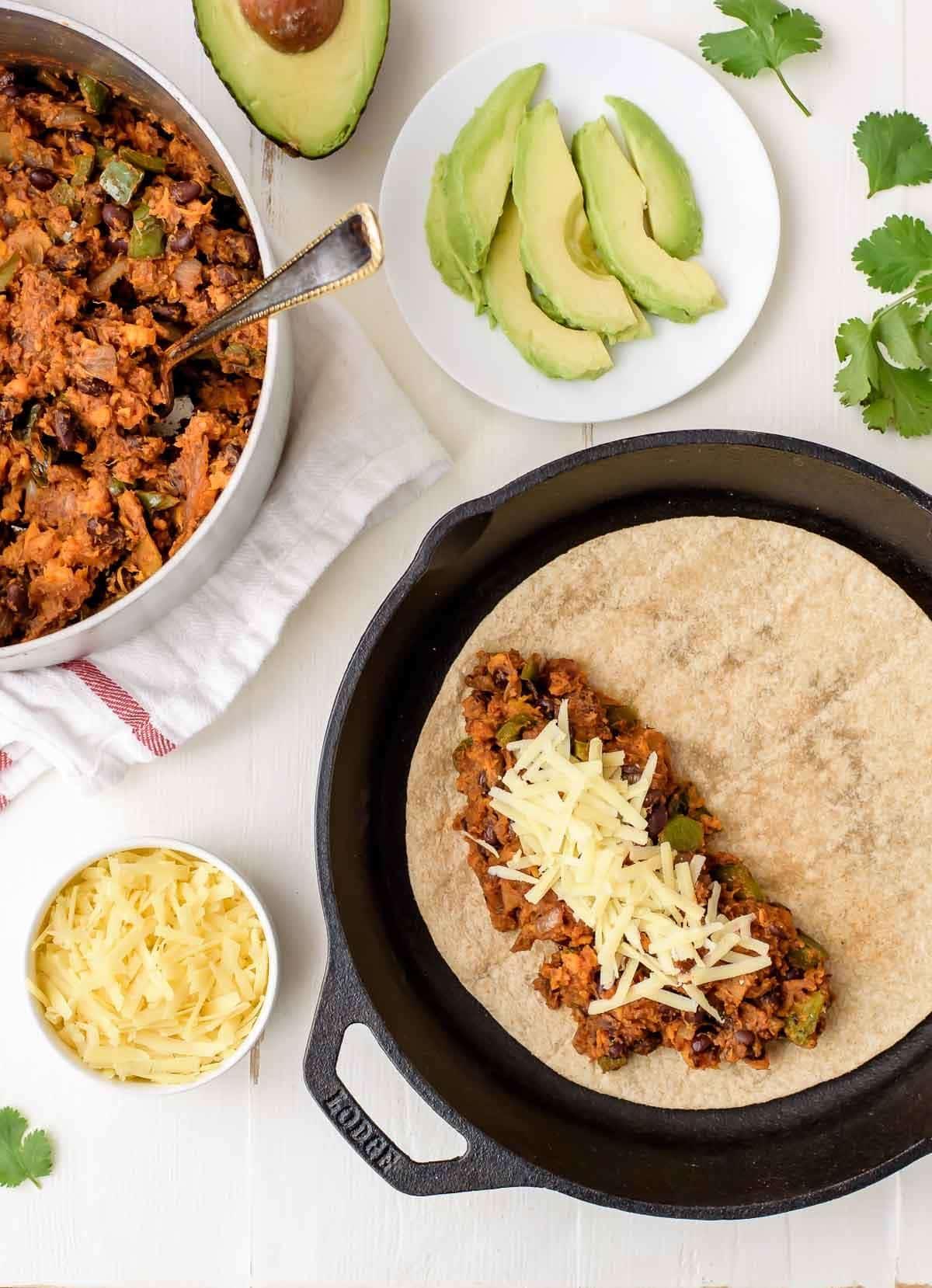 How to make Sweet Potato Black Bean Quesadillas