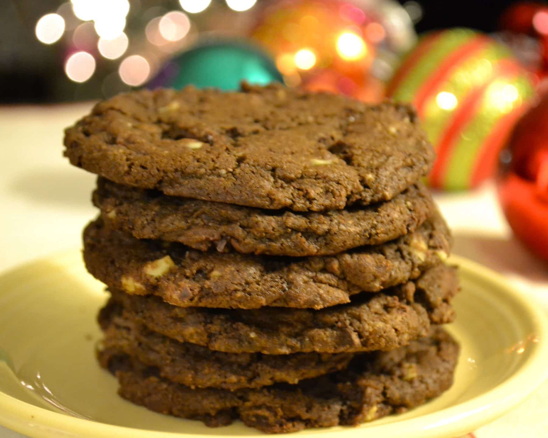 Double Dark Chocolate Mint Cookies | The Law Student's Wife | Well ...