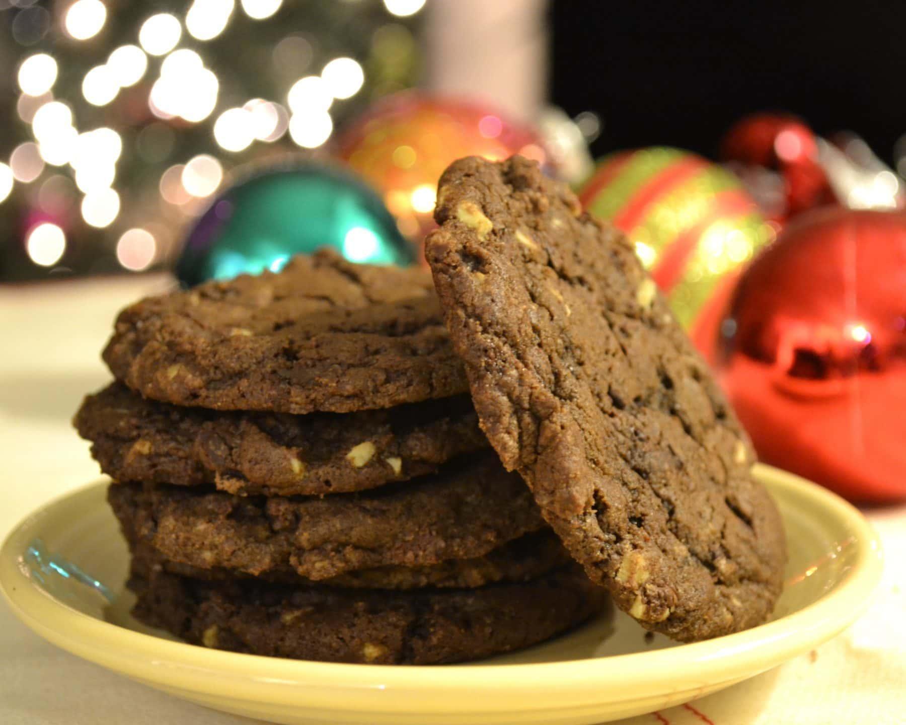 Double Dark Chocolate Mint Chip Cookies
