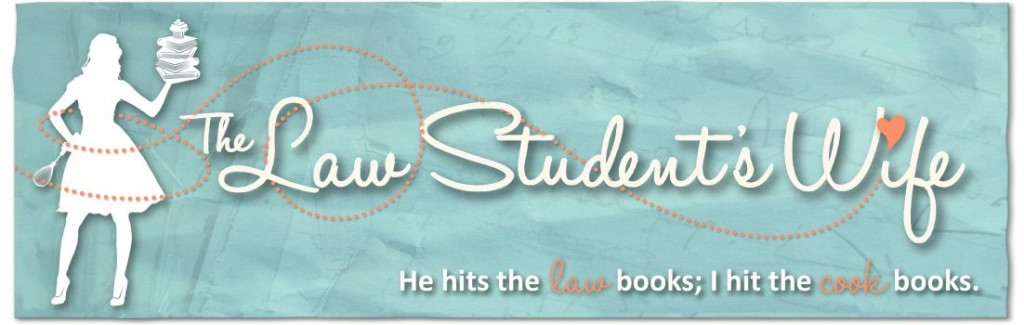 """A photo of the logo for Erin Clarke's blog called """"The Law Student's Wife"""""""