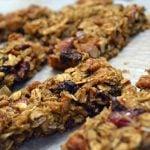 Healthy Cranberry Almond Granola Bars
