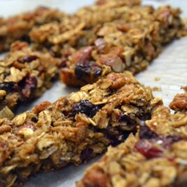 Healthy Cranberry Almond Granola Bars