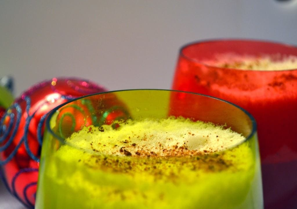 Green with red and ornaments