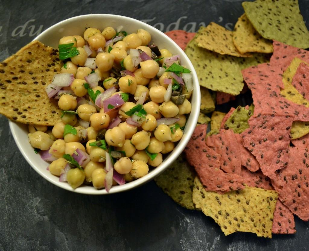 Cowboy Caviar {Chickpea Salad with Olives and Herbs} | The Law Student's Wife