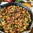 Chicken Apple Sweet Potato Skillet with Bacon and Brussels Sprouts