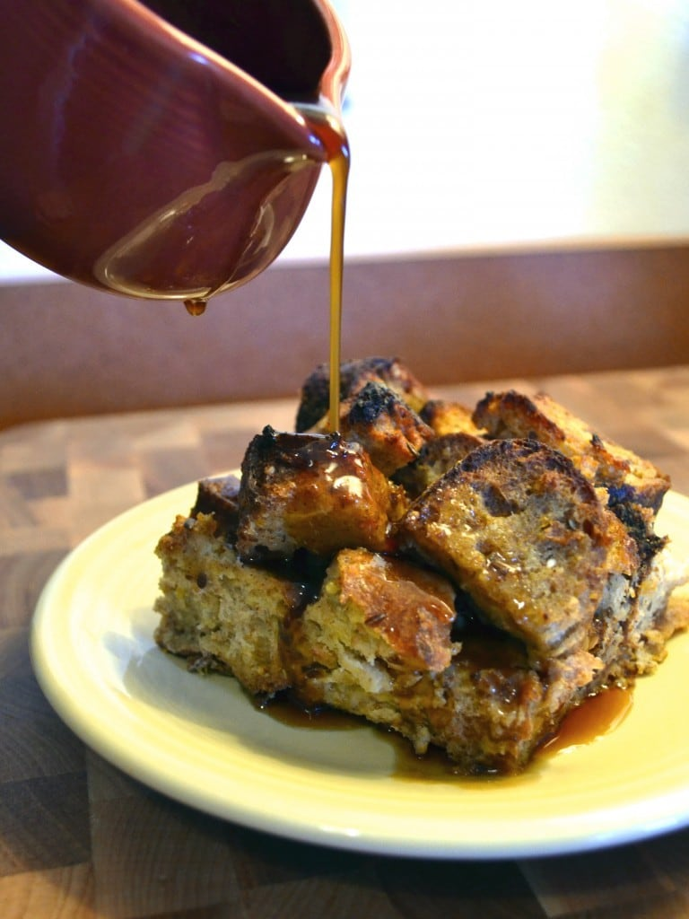 Applesauce French Toast Casserole with Cider Syrup | The Law Student's Wife