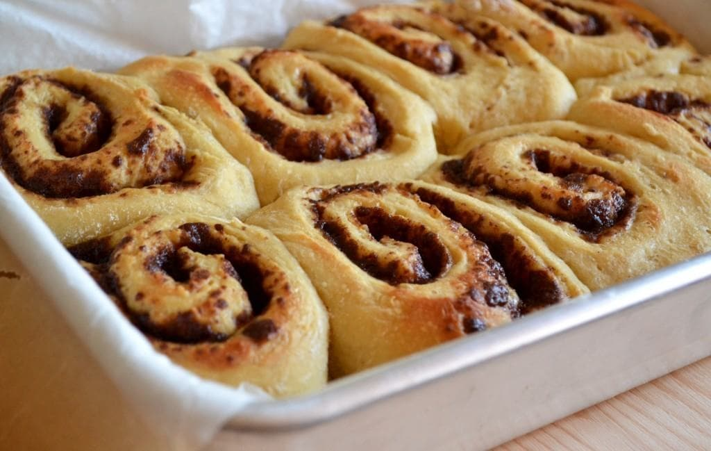 Yukon Gold Cinnamon Rolls with Cream Cheese Frosting