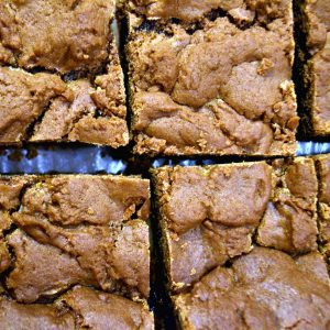 Boyfriend Brownies (Caramel Brownies) Recipe. Fabulous and fudgy, it's the perfect sweet treat to end a romantic dinner!