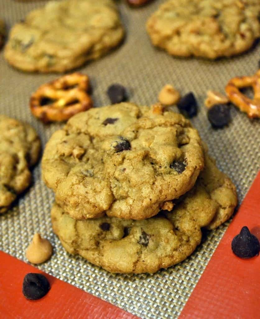 Crispy Chewy Pretzel, Peanut Butter, and Chocolate Chip ...
