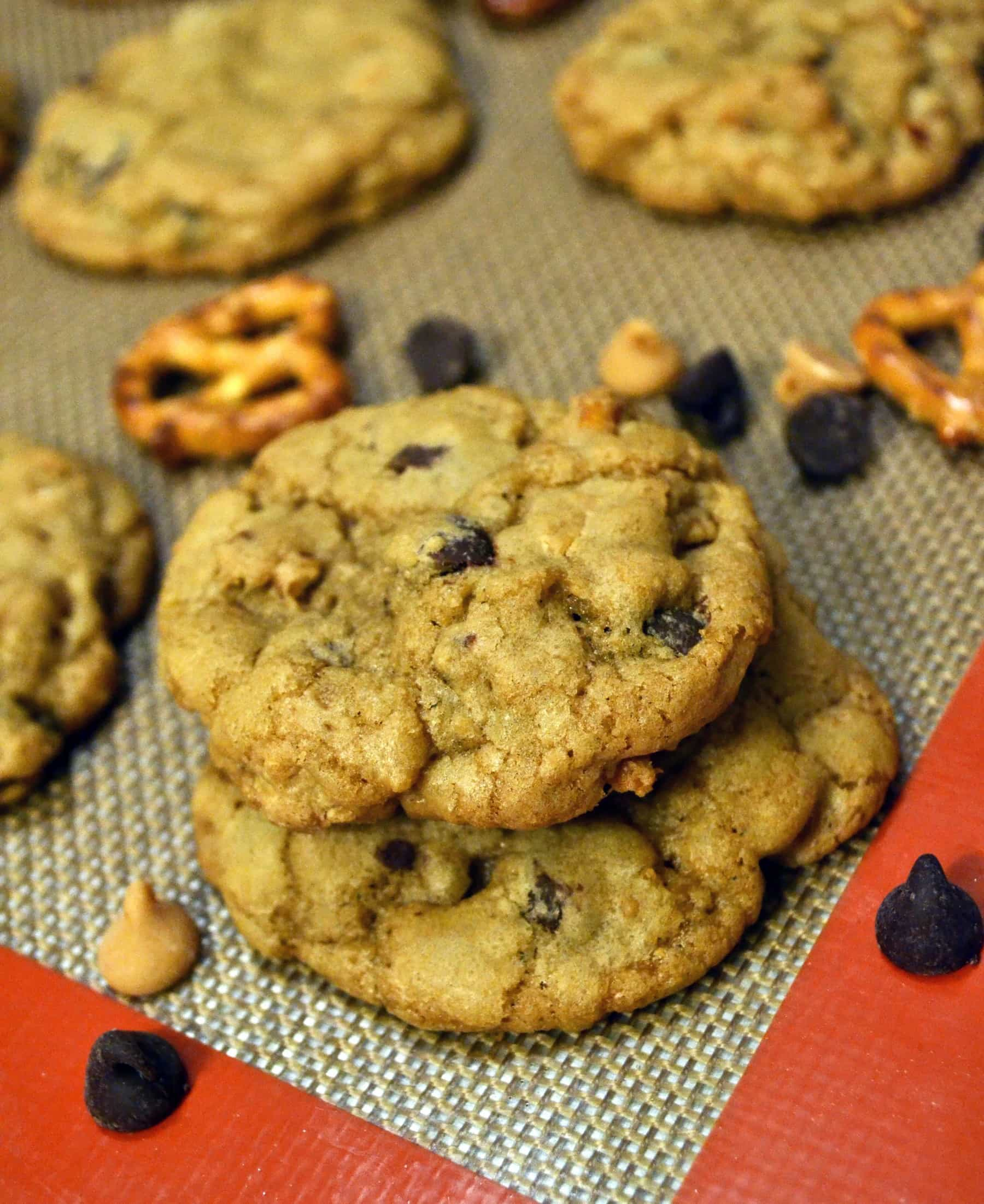 Crispy Chewy Pretzel, Peanut Butter, and Chocolate Chip Cookies | The ...