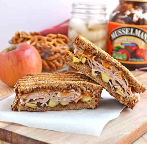 Apple Butter, Turkey, and Cheddar Grilled Cheese