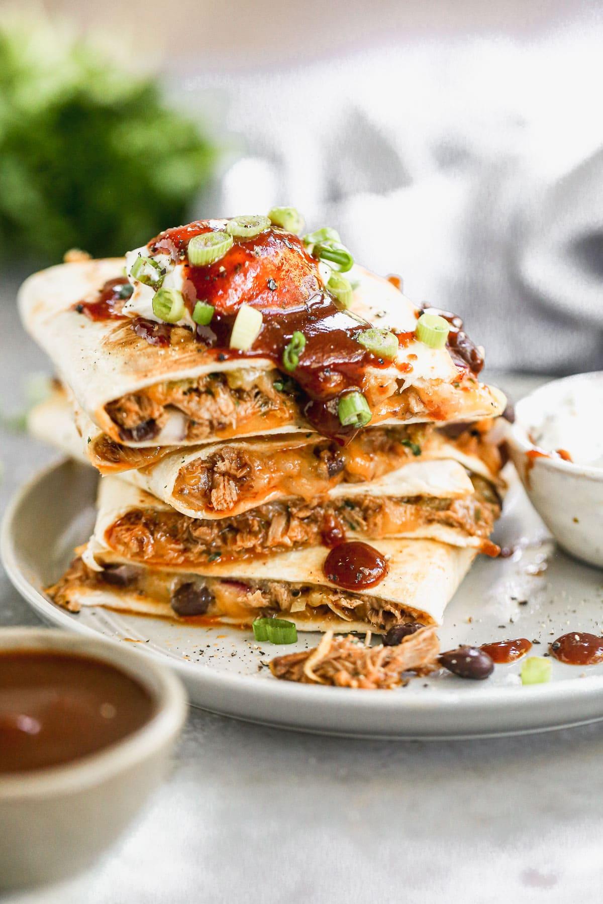leftover pork Mexican quesadilla