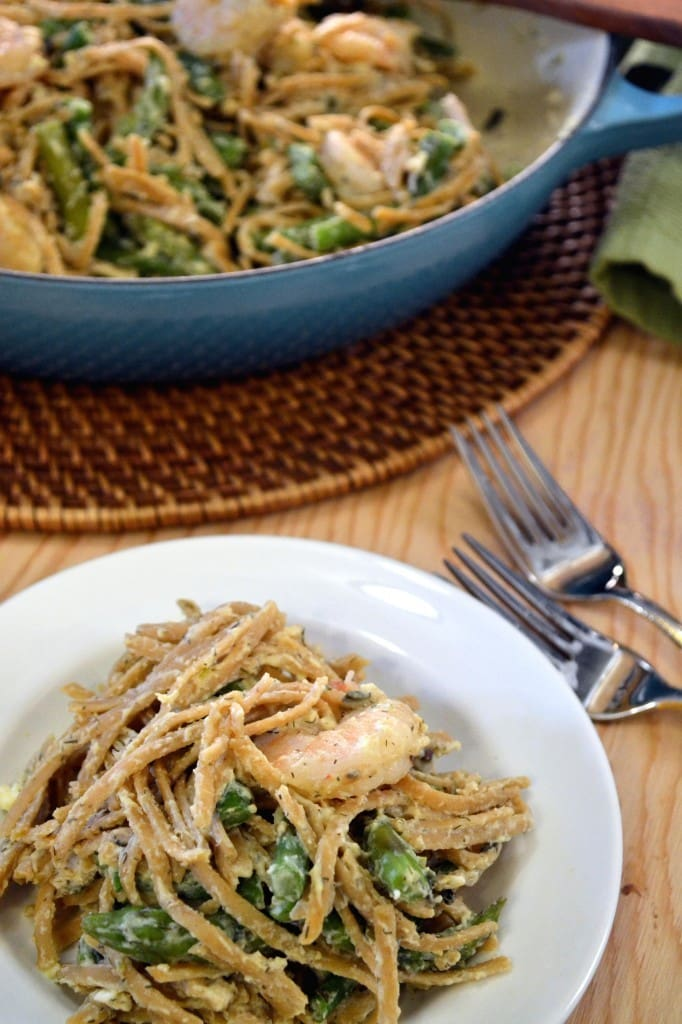 Lemon-Asparagus-Pasta-with-Roasted-Shrimp-Recipe-The-Law-Students-Wife