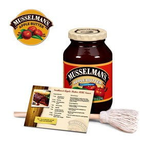 A jar of Musselman's apple butter