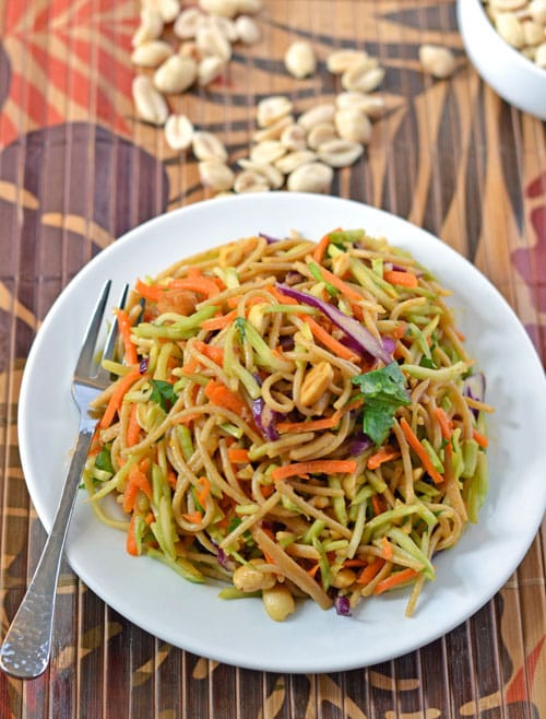Asian noodle salad peanut sauce