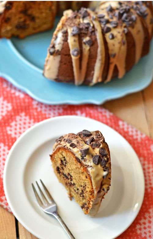 Peanut Butter Cake with Chocolate Chips