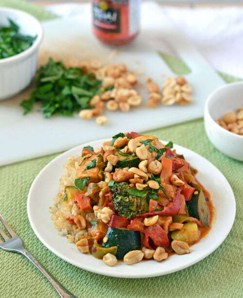 Chicken Stir Fry with Thai Peanut Sauce