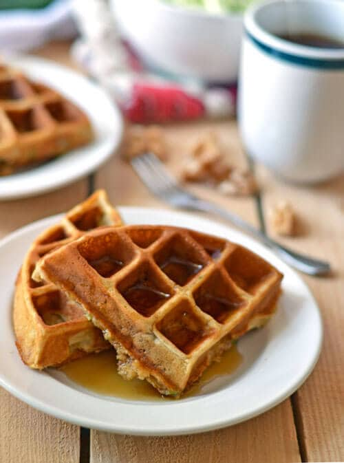 Zucchini Waffles are one of my tastiest veggie-sneak triumphs to date.
