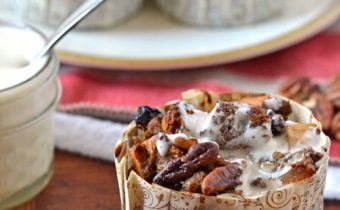 Gingerbread Bread Pudding with Bourbon Sauce
