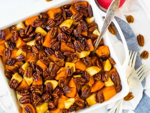 Glazed Sweet Potatoes With Honey And Pecans Wellplated Com