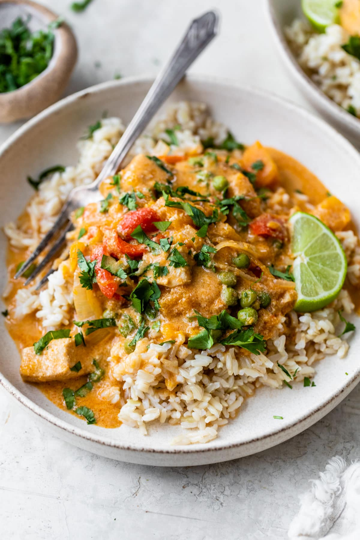 Slow Cooker Thai Chicken. Our favorite slow cooker dinner!