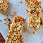 Orange Almond Healthy Granola Bars with Coconut and Honey