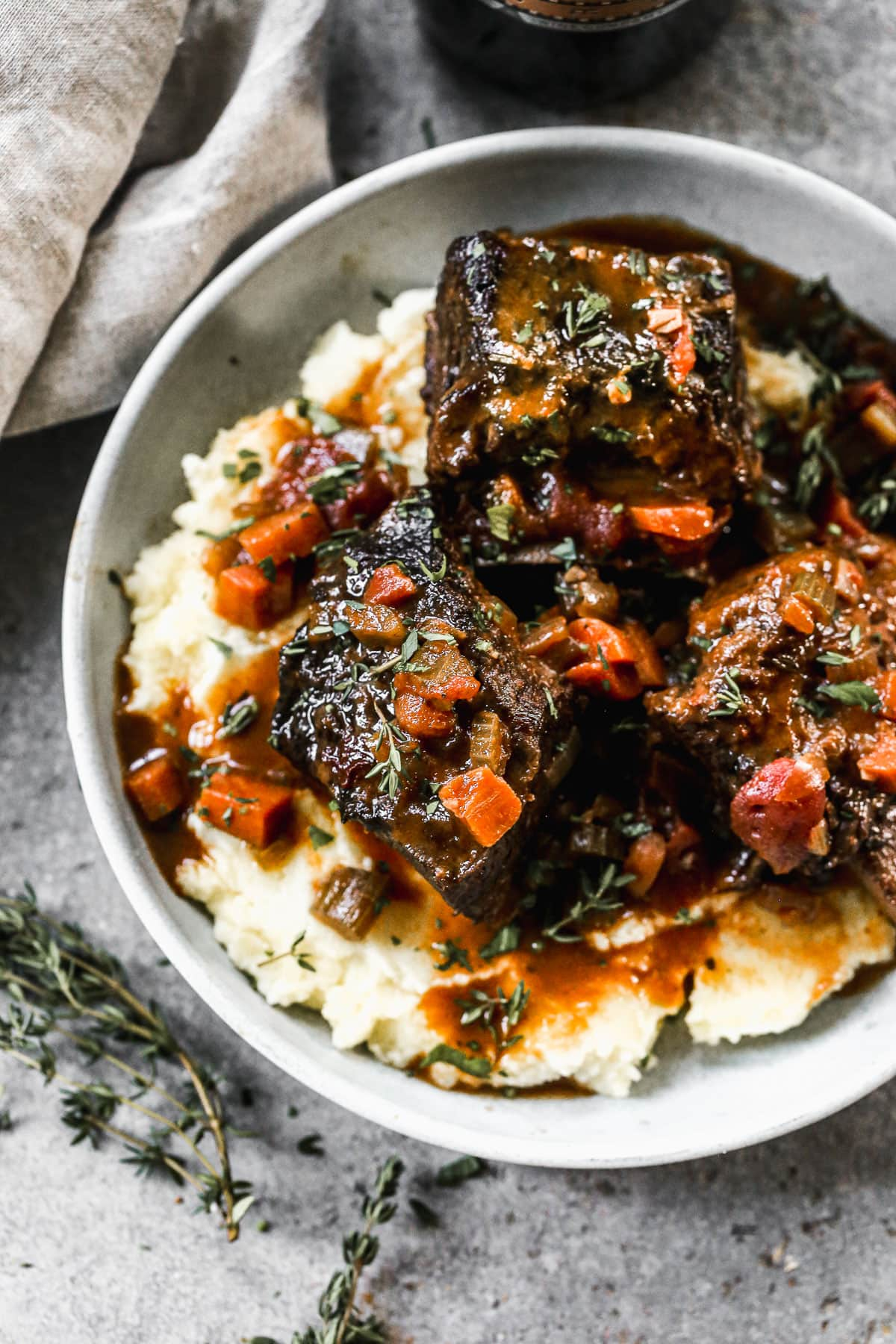Braised Short Rib Pasta with Horseradish Cream