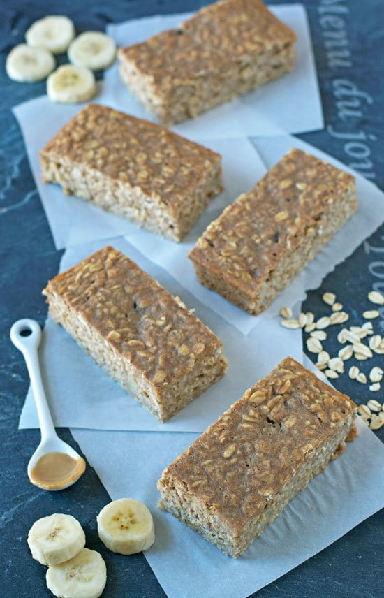 Peanut Butter Oatmeal Breakfast Bars