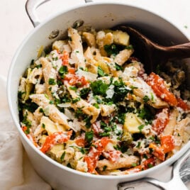 20-Minute Whole Wheat Ricotta Pasta. A quick and healthy dinner!