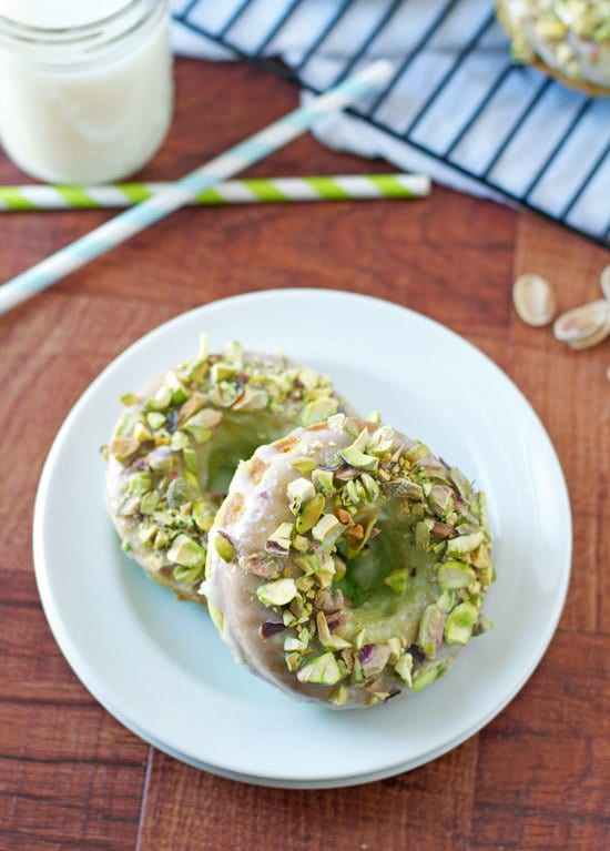 Baked Pistachio Donuts Recipe