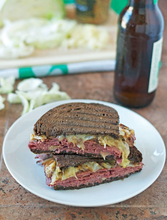Corned Beef and Cabbage Grilled Cheese Sandwich