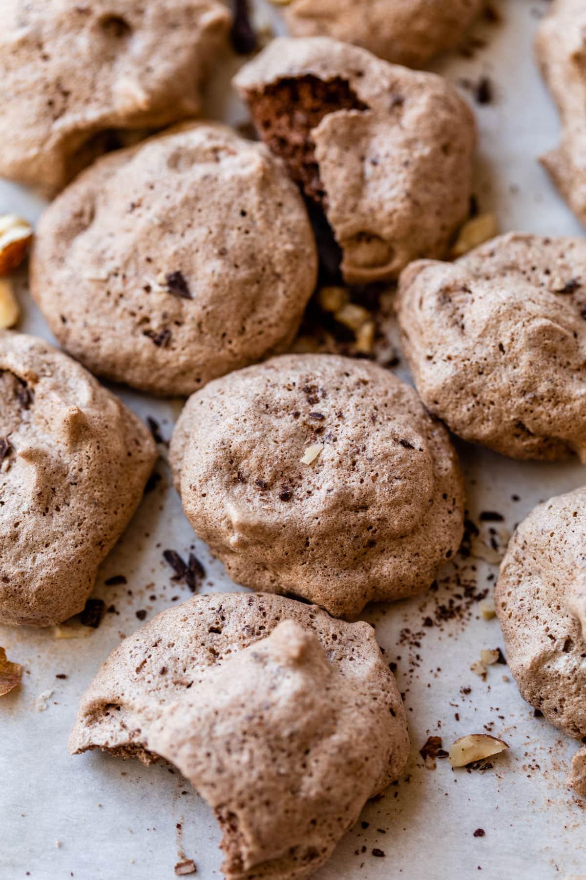 Hazelnut Latte Chocolate Meringue Cookies Recipe