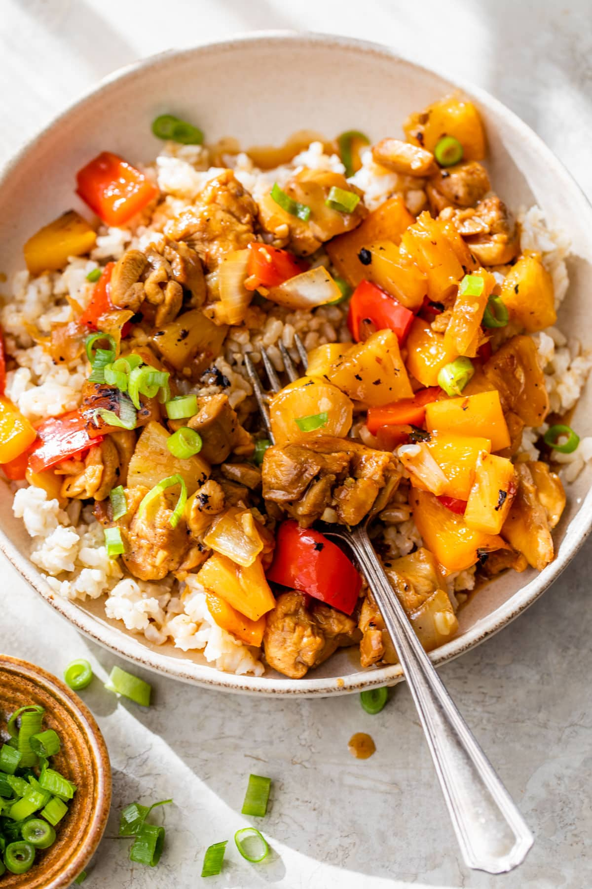 Hot and Sour Noodle Stir Fry with Peanut Chicken. An easy healthy stir fry loaded with flavor and ready FAST