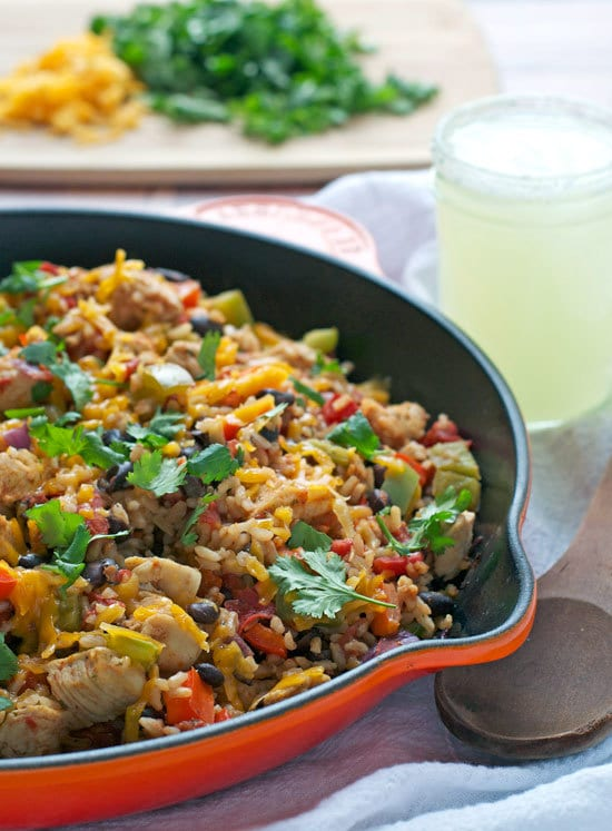 One Skillet Spicy Ranch Chicken. An easy, healthy, 20-minute meal
