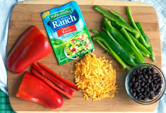 One Skillet Spicy Ranch Chicken with Ranch Mix and Peppers