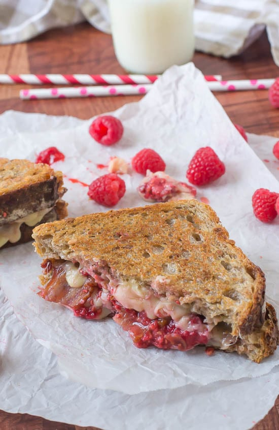 Raspberry Chipotle Bacon Grilled Cheese Recipe