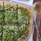 Spicy Turkey Leek Asparagus Pizza-Healthy and perfect for spring