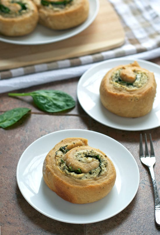 Goat Cheese Spinach Swirl Rolls. Whole wheat swirl bread with spinach and goat cheese filling. Easy make ahead recipe.