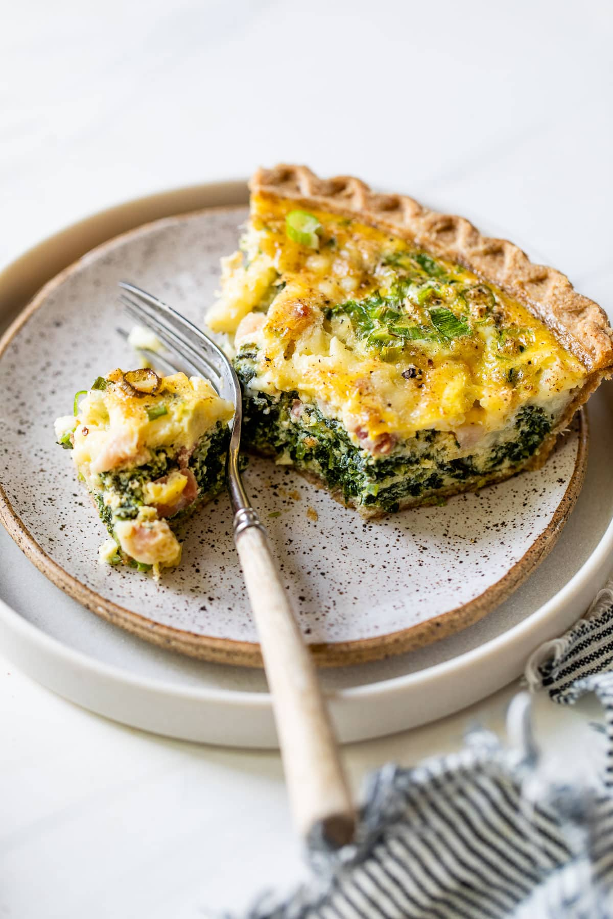 Sunburst Spring Vegetable Quiche with Puff Pastry Crust. A beautiful quiche with asparagus, carrots and leeks.