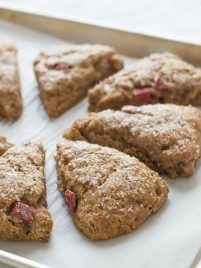 Whole Wheat Rhubarb Scones