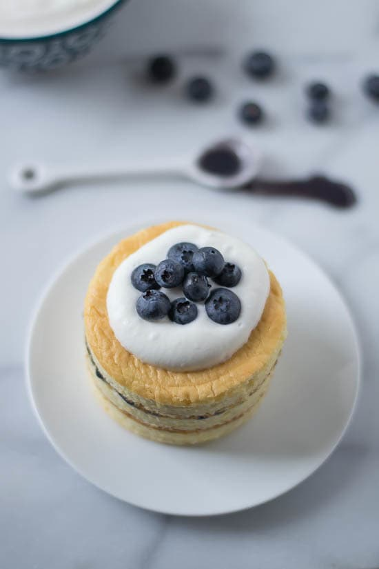 Buttermilk Chiffon Cake with Blueberry Curd and Buttermilk Whipped Cream-Recipe-3