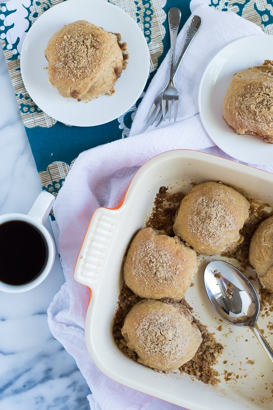 Double Stuffed Cinnamon Crumb Buns Recipe. Like a coffee cake and cinnamon roll combined!