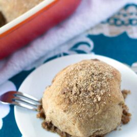 Double Stuffed Cinnamon Crumb Buns. Crumb streusel topping is stuffed in the buns and served on top!