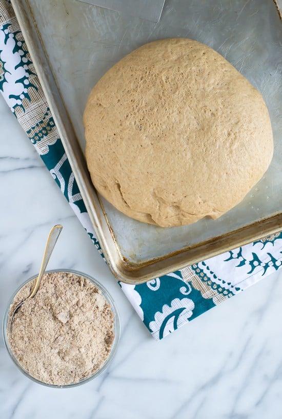 Double Stuffed Cinnamon Crumb Buns-Risen Dough