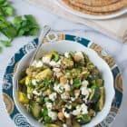 Mediterranean Roasted Vegetable and Chickpea Salad Recipe