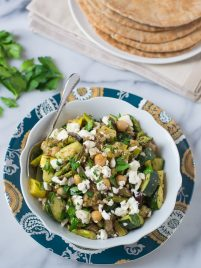Mediterranean Roasted Vegetable and Chickpea Salad Recipe